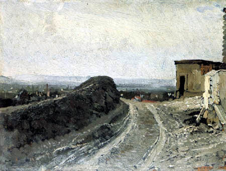 Ilja Jefimowitsch Repin - Weg zum Montmartre in Paris