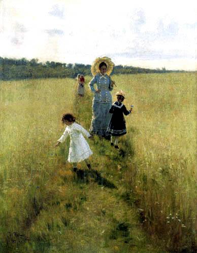Ilja Jefimowitsch Repin - Auf dem Feldweg