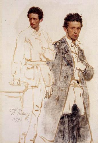Ilja Jefimowitsch Repin - Nikolai Wentzel, Studie