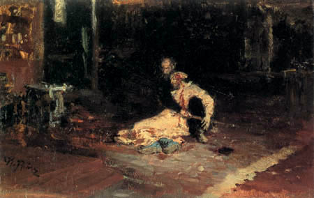 Ilja Jefimowitsch Repin - Ivan the Terrible and his son