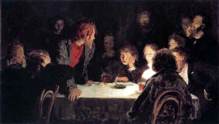 Ilja Jefimowitsch Repin - Politische Zusammenkunft