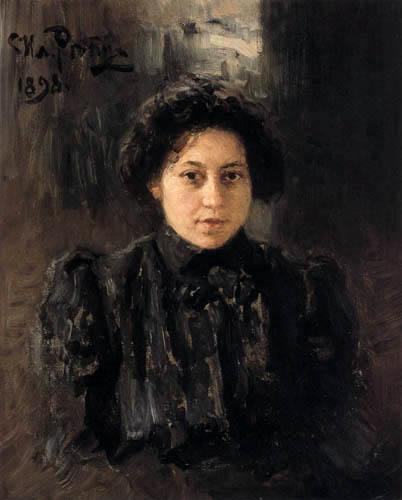 Ilja Jefimowitsch Repin - Retrato de Nadeshda Repin