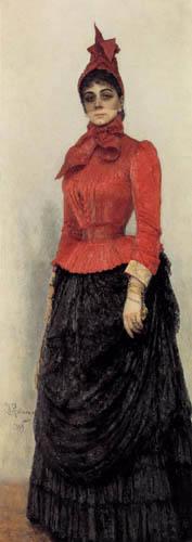 Ilja Jefimowitsch Repin - Baronin Warwara Ixkul von Hildenbandt