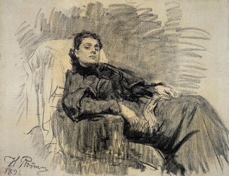 Ilja Jefimowitsch Repin - The Actress Eleonora Duse