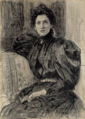 Ilja Jefimowitsch Repin - The Actress Vera Pushkarewa