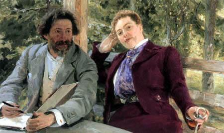 Ilja Jefimowitsch Repin - Ilja Repin und Natalia Nordman