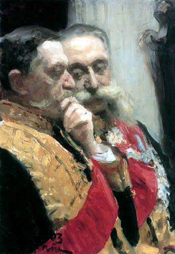 Ilja Jefimowitsch Repin - Iwan Goremykin und Nikolai Gerard