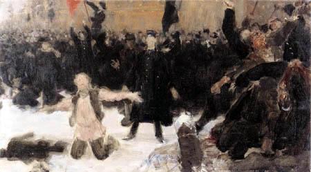 Ilja Jefimowitsch Repin - Auflösung einer Demonstration
