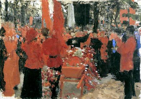 Ilja Jefimowitsch Repin - Rote Beerdigung