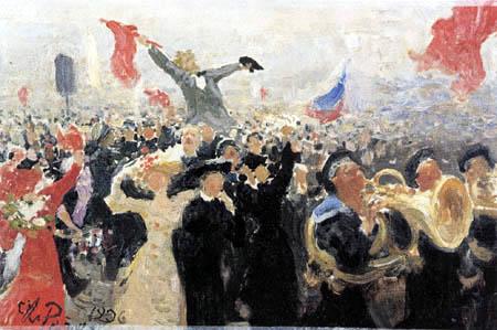 Ilja Jefimowitsch Repin - Manifestation, 17.Oktober 1905
