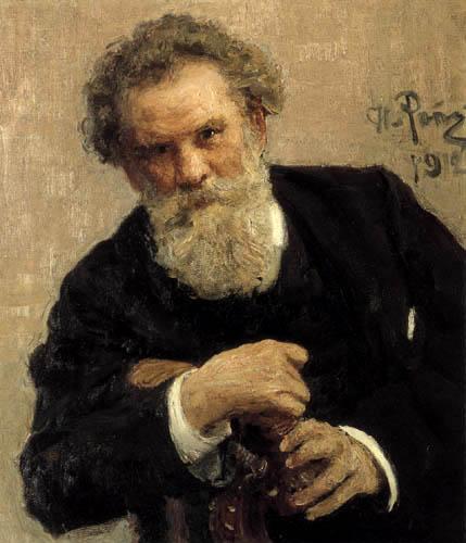 Ilja Jefimowitsch Repin - The Writer Vladimir Galaktionovich Korolenko