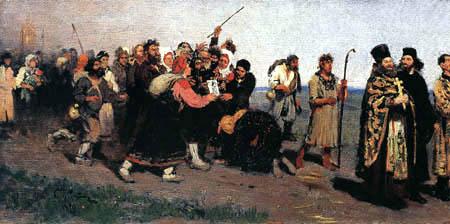 Ilja Jefimowitsch Repin - Una procesión religiosa