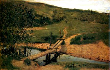 Ilja Jefimowitsch Repin - Landschaft mit Steg