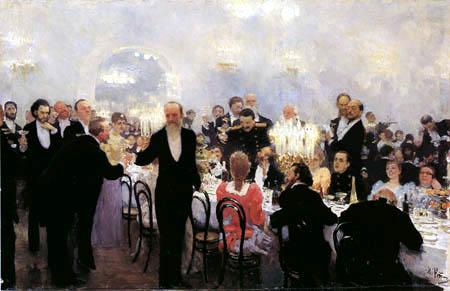Ilja Jefimowitsch Repin - Jubiläumsmahl