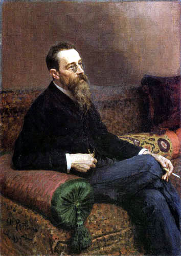 Ilja Jefimowitsch Repin - Bildnis N. A. Rimski-Korsakow