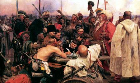 Ilja Jefimowitsch Repin - Die Saporoschen schreiben einen Brief