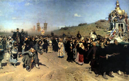 Ilja Jefimowitsch Repin - Procession in the Governorate Kursk