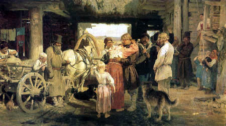 Ilja Jefimowitsch Repin - Parting from a recruit