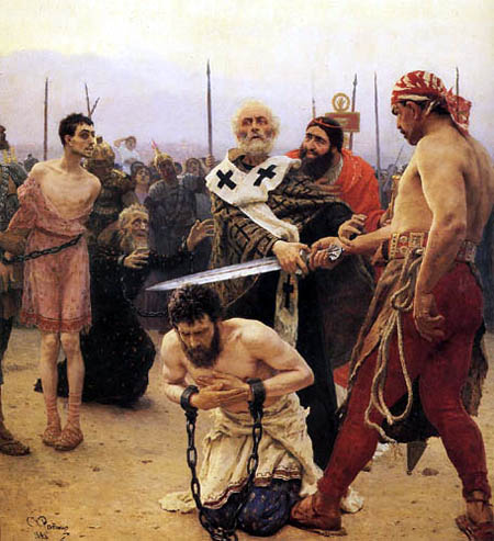 Ilja Jefimowitsch Repin - Nicolaus of Myra saves three innocents