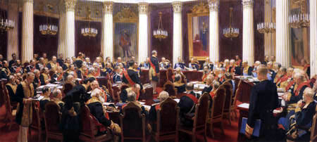 Ilja Jefimowitsch Repin - Caucus of the privy council