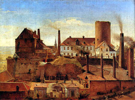 Alfred Rethel - The Harkort Factory near the Wetter Castle