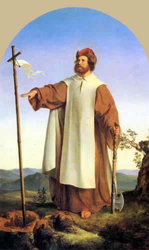 Alfred Rethel - Saint Boniface