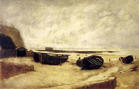 Rudolf Ribarz - Boats at the coast