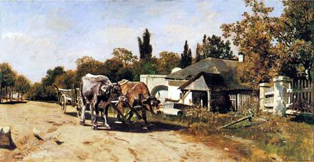 Rudolf Ribarz - Team of oxen near Ebreichsdorf