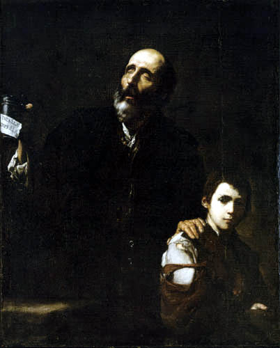 Jusepe (José) de Ribera - Blind beggar and a boy