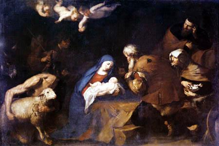 Jusepe (José) de Ribera - Adoration of the shepherds