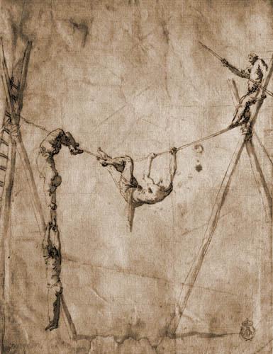 Jusepe (José) de Ribera - Akrobaten auf dem Seil