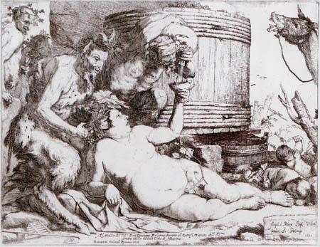 Jusepe (José) de Ribera - The drunken Silen