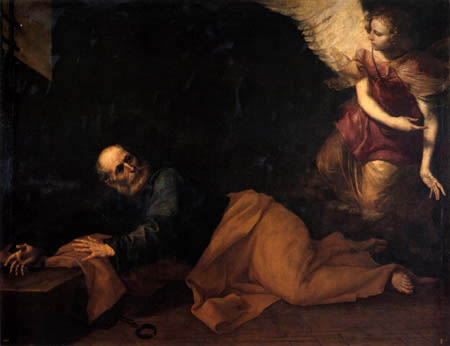Jusepe (José) de Ribera - Saint Peter in the prison