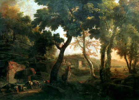 Marco Ricci - Landschaft mit Pferden