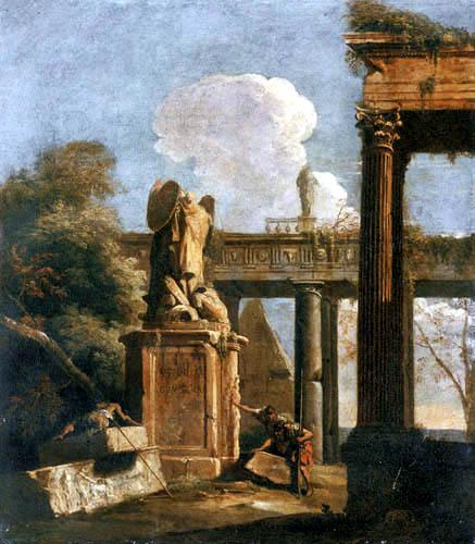 Marco Ricci - Capriccio with Roman Ruins