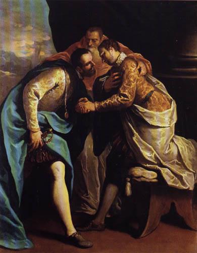Sebastiano Ricci - Pope Paul III. arbitrate a dispute