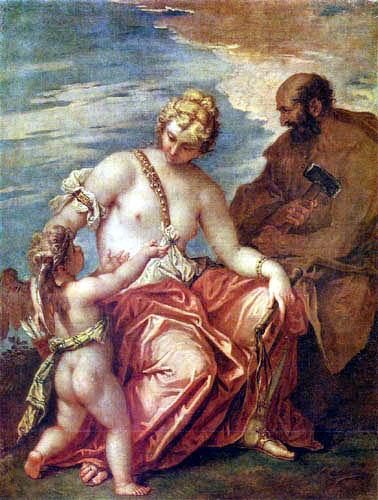 Sebastiano Ricci - Venus, Vulcanus y Amor