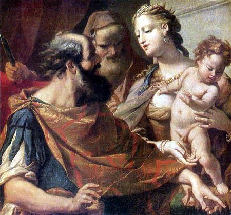 Sebastiano Ricci - Moses, stepping the crown of the Pharaoh