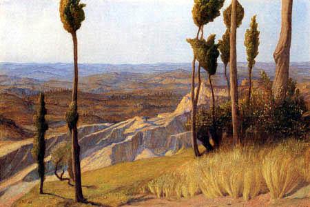 William Blake Richmond - The Pisan Plain, from Volterra