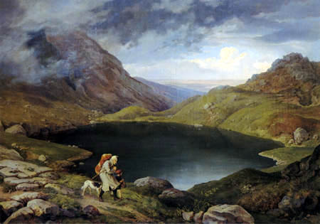 Adrian Ludwig Richter - Teich im Riesengebirge