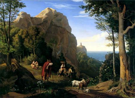 Adrian Ludwig Richter - Tal bei Amalfi