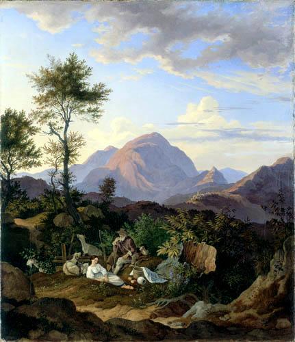 Adrian Ludwig Richter - Rocca di Mezzo im Sabrinergebirge