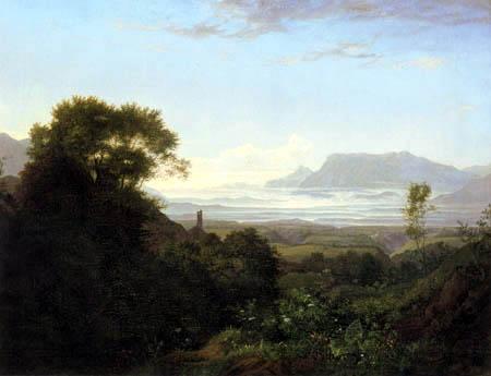 Adrian Ludwig Richter - Morgen bei Palestrina