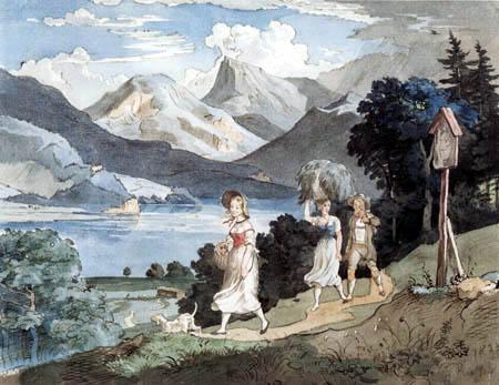 Adrian Ludwig Richter - Fuschlsee im Salzkammergut