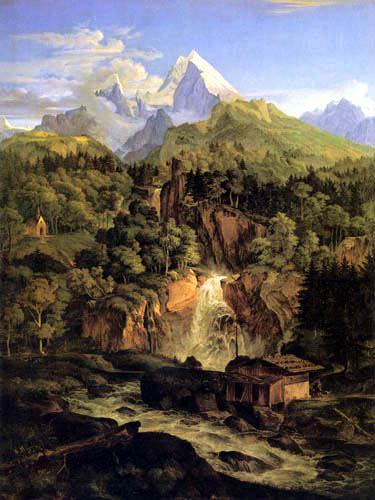 Adrian Ludwig Richter - The Watzmann