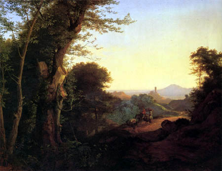 Adrian Ludwig Richter - Wald bei Olevano