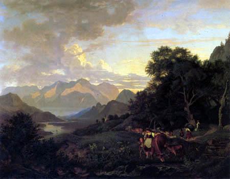 Adrian Ludwig Richter - Salzburgische Landschaft mit dem Tännengebirge
