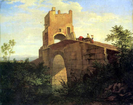 Adrian Ludwig Richter - Ponte Salaro bei Rom