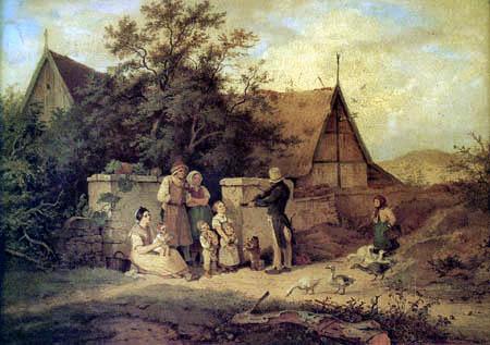Adrian Ludwig Richter - Der Dorfgeiger