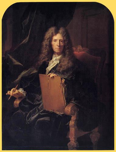 Hyacinthe Rigaud - Portrait Pierre Mignard